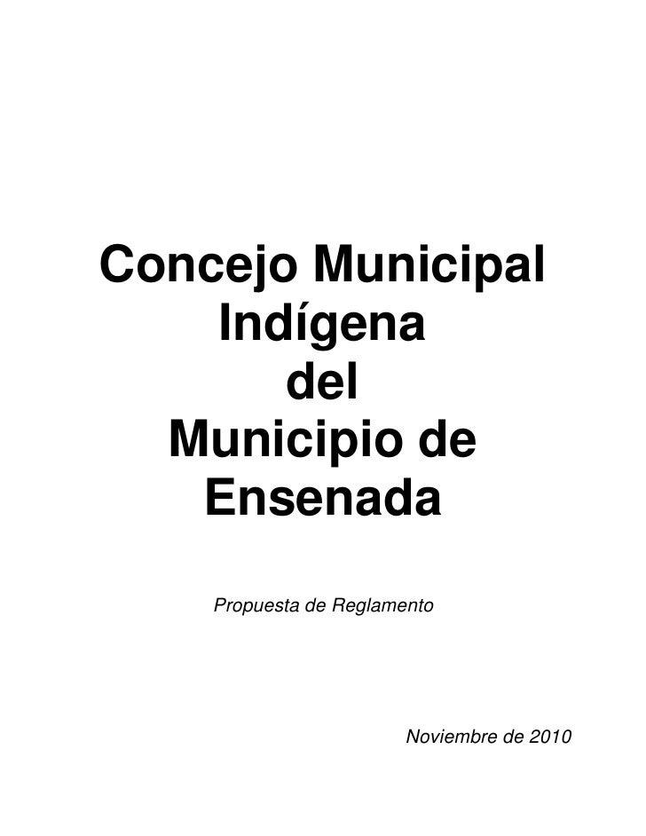 Concejo Municipal Indígena de Ensenada Baja California