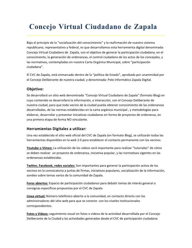 Concejo Virtual Ciudadano De Zapala