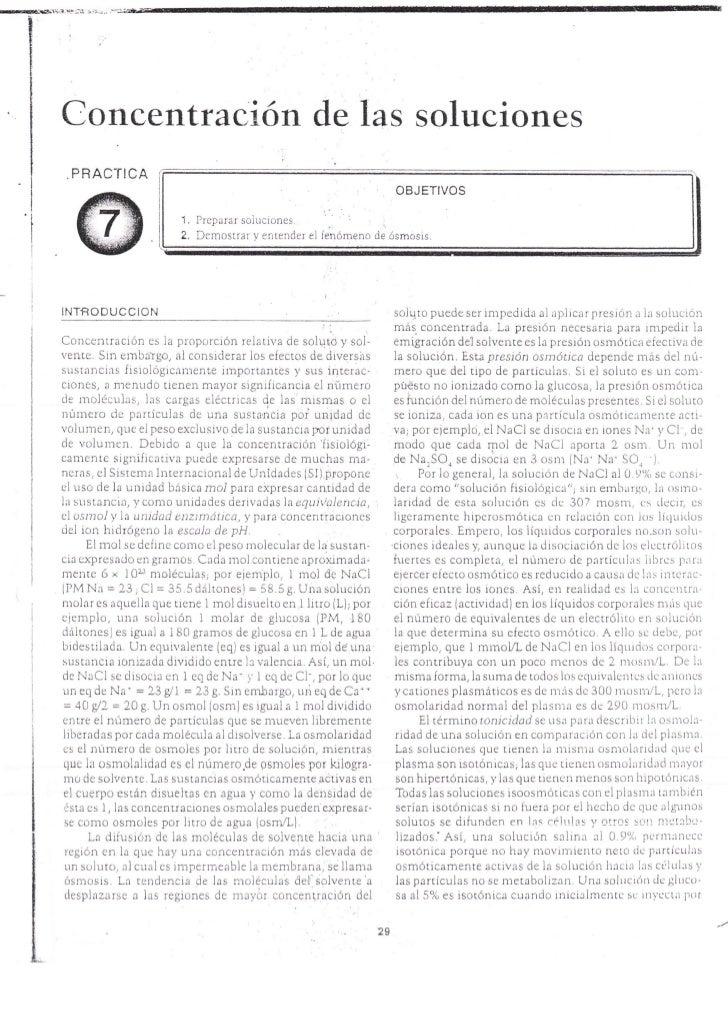 Concentración de las soluciones  P   RACTI CA                                                                           OB...