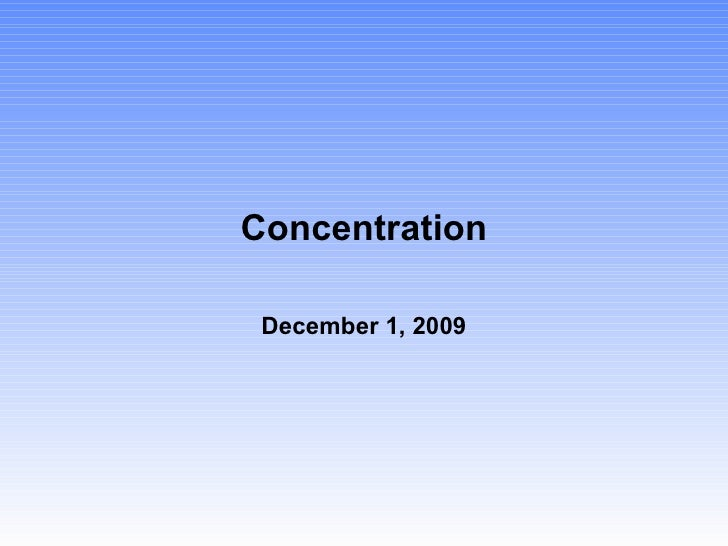 Concentration2008
