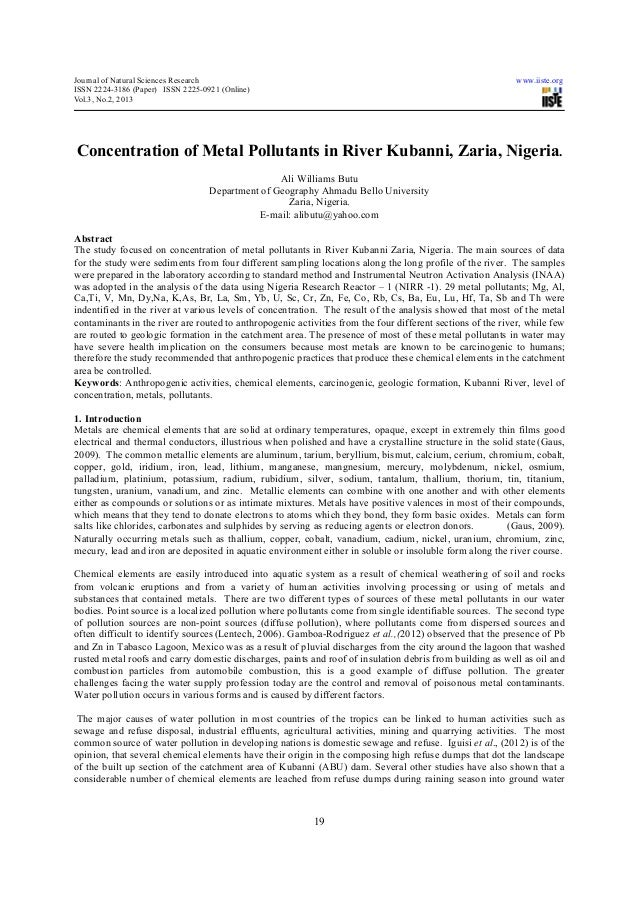 Journal of Natural Sciences Research                                                                         www.iiste.org...