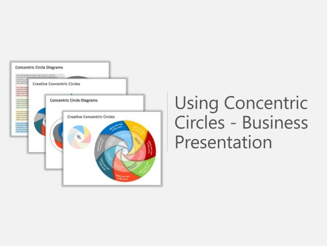 Editable Concentric Circles for PPT