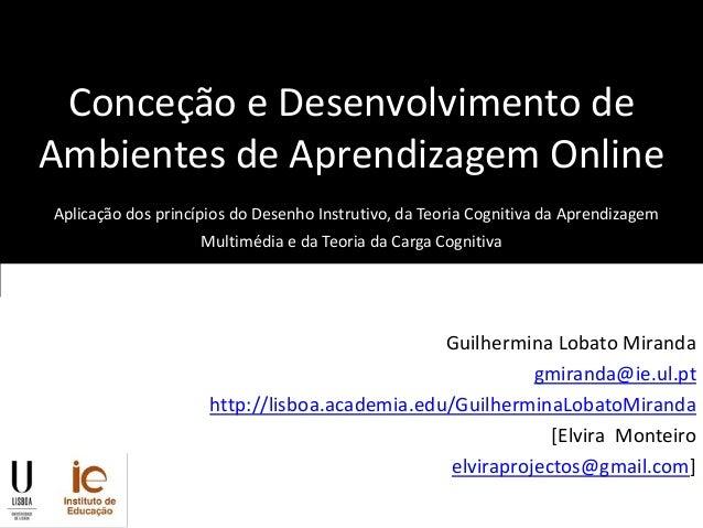 Conceção e desenvolvimento de ambientes de aprendizagem online