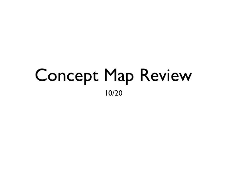 Concept Map Review