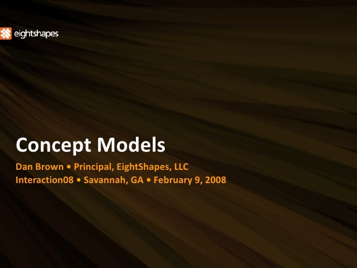 Concept Models ~ Interaction08