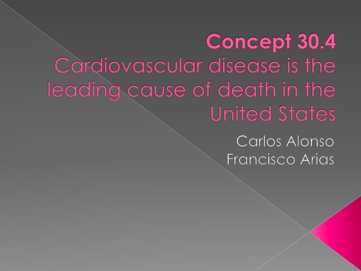 Concept 30.4Cardiovascular diseaseistheleading cause of death in theUnitedStates<br />Carlos Alonso<br />Francisco Arias<b...