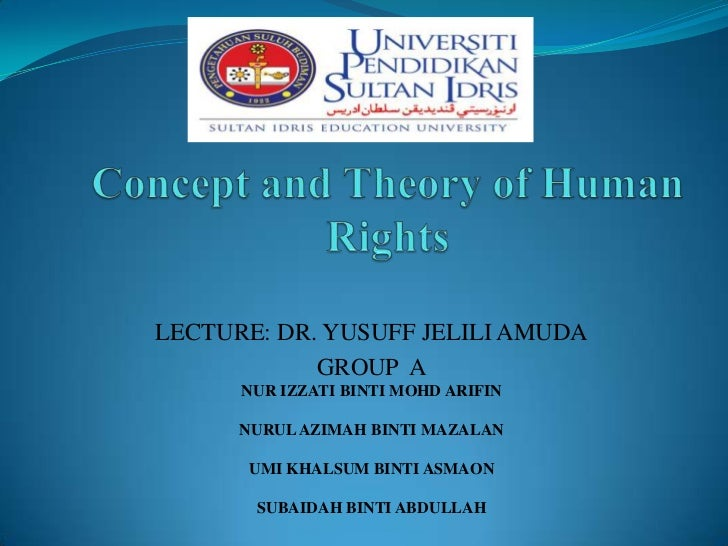Concept and theory of human right 1