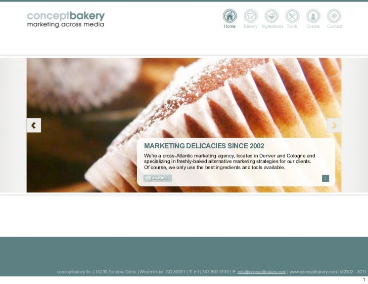 Home      Bakery   Ingredients Tools      Clients       Contact                                           MARKETING DELICA...