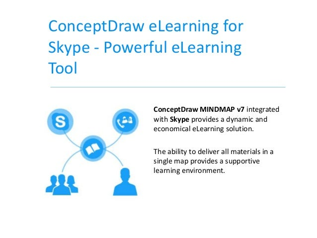 ConceptDraw eLearning forSkype - Powerful eLearningTool              ConceptDraw MINDMAP v7 integrated              with S...