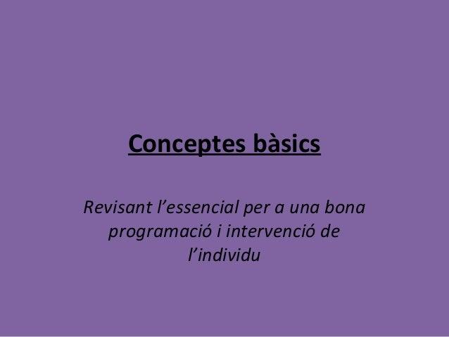 Conceptes basics