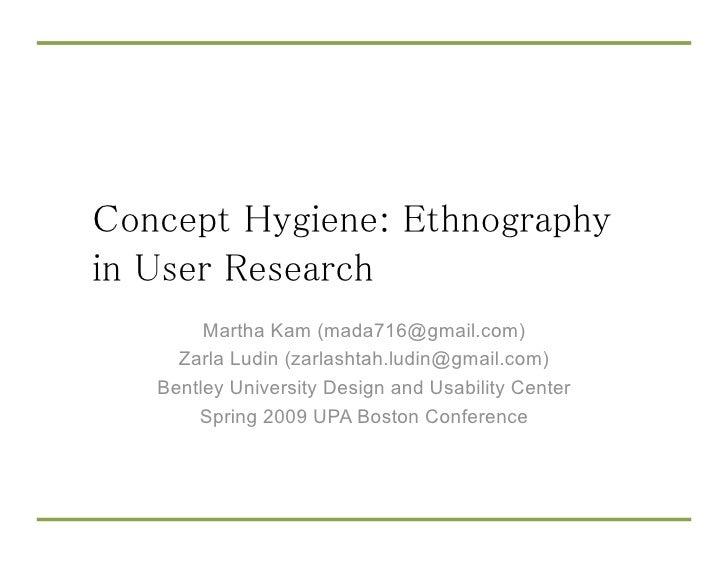 Martha Kam (mada716@gmail.com)   Zarla Ludin (zarlashtah.ludin@gmail.com) Bentley University Design and Usability Center  ...