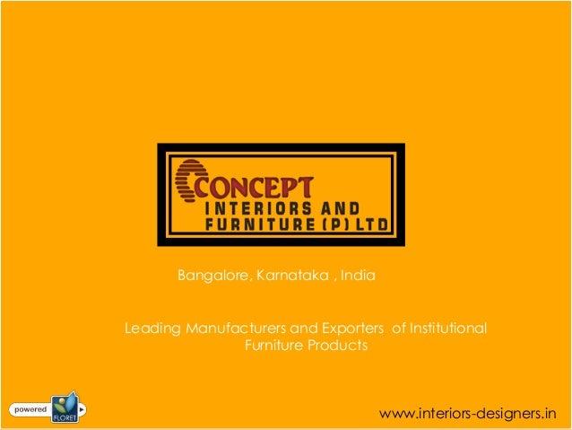 Institutional Furniture Manufacturers Bangalore