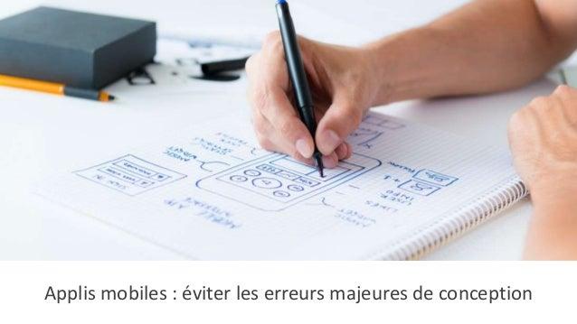 Applis mobiles : éviter les erreurs majeures de conception