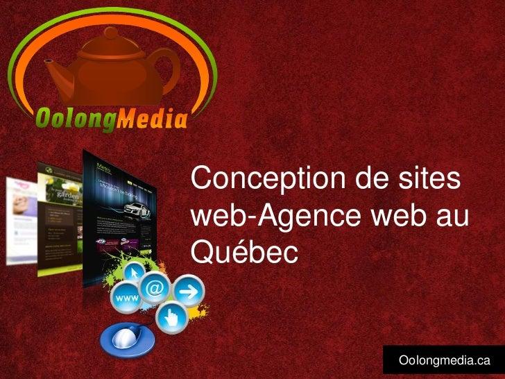Conception de sitesweb-Agence web auQuébec              Oolongmedia.ca