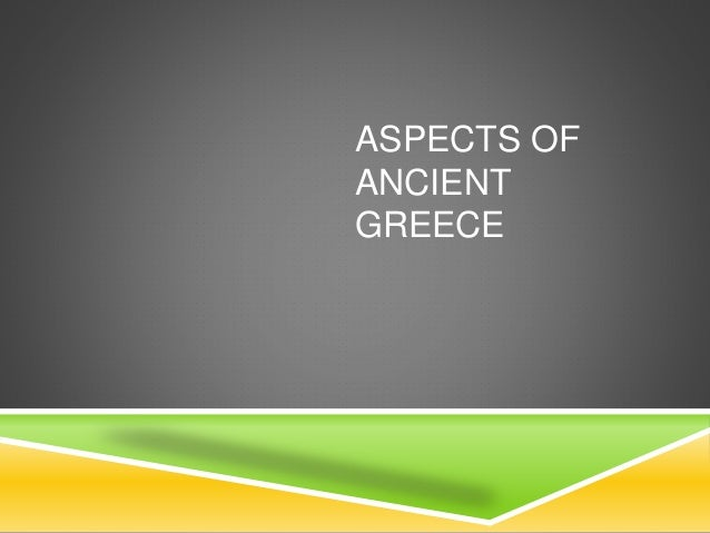 Aspects of Ancient Greece, Concept Map
