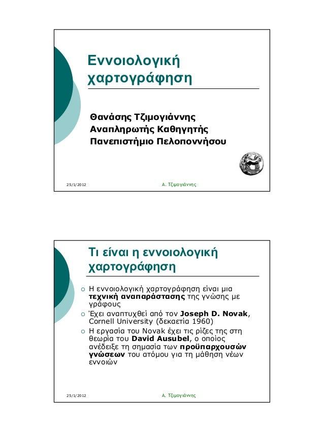 Εννοιολογική Χαρτογράφηση (Α. Τζιμογιάννης)