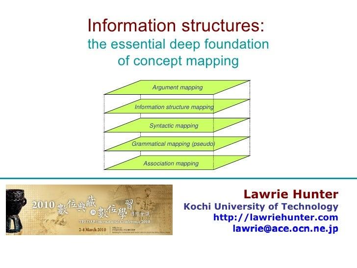 Lawrie Hunter Kochi University of Technology http://lawriehunter.com Information structures:  the essential deep foundatio...