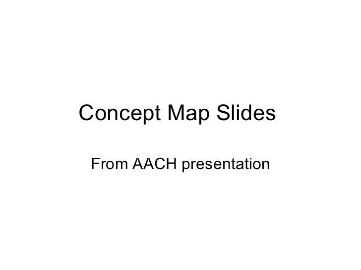 Concept Map Slides  From AACH presentation