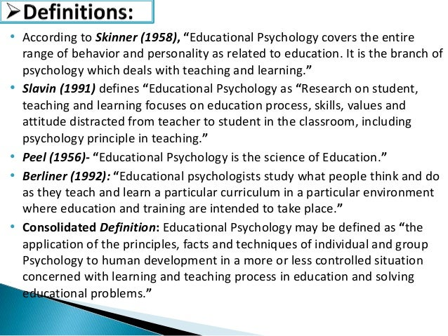 thesis about educational psychology Psychology dissertation topics a great selection of free psychology dissertation topics and ideas to help you write the perfect dissertation.