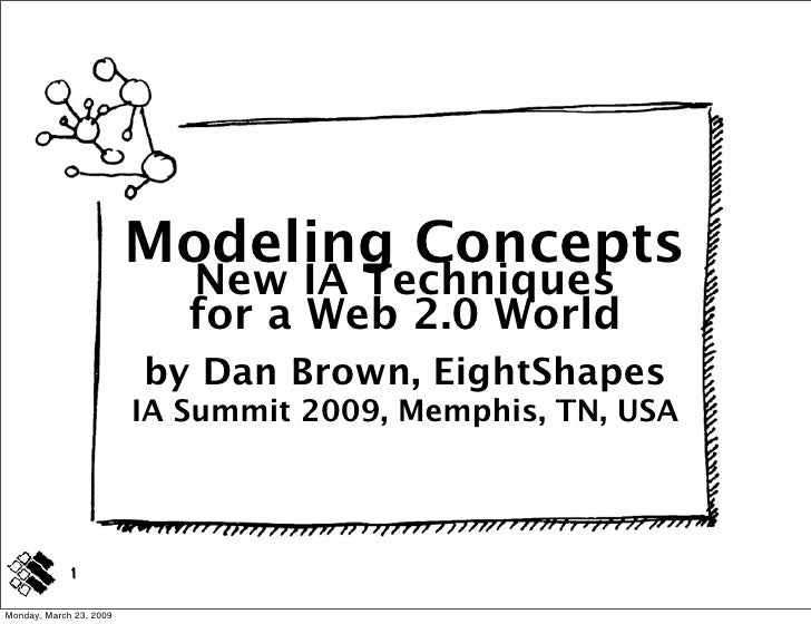 Modeling Concepts                             New IA Techniques                             for a Web 2.0 World           ...