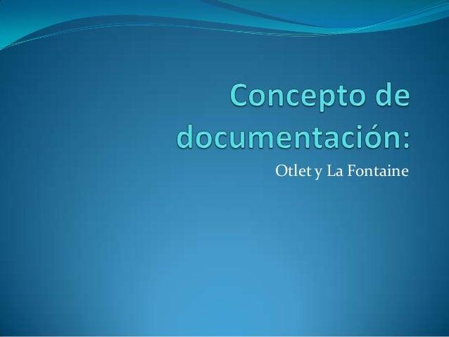 Concepto de documentación