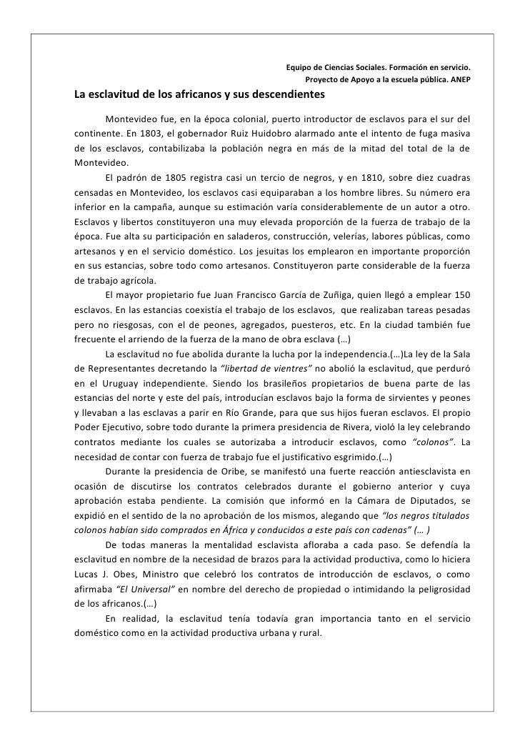 Concepto de esclavitud. PAEPU 2012