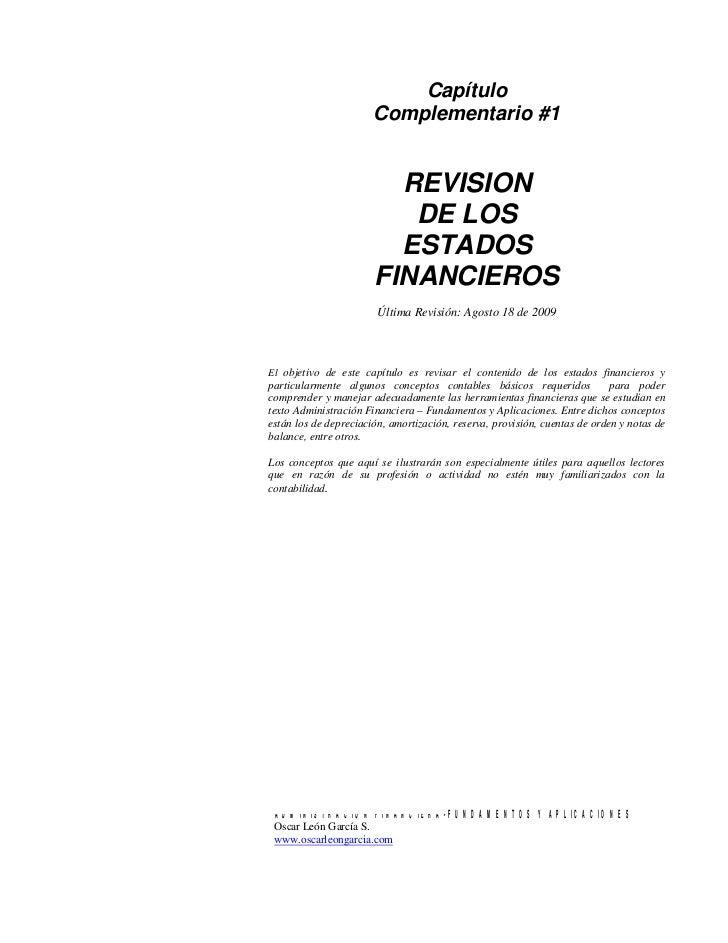 Capítulo                       Complementario #1                         REVISION                          DE LOS         ...