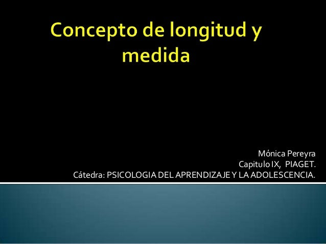 Concepto de longitud y medida