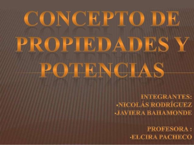 En esta disertación hablaremos sobre las  propiedades y potencias de las números naturales.Les contaremos sobre las 5 prop...