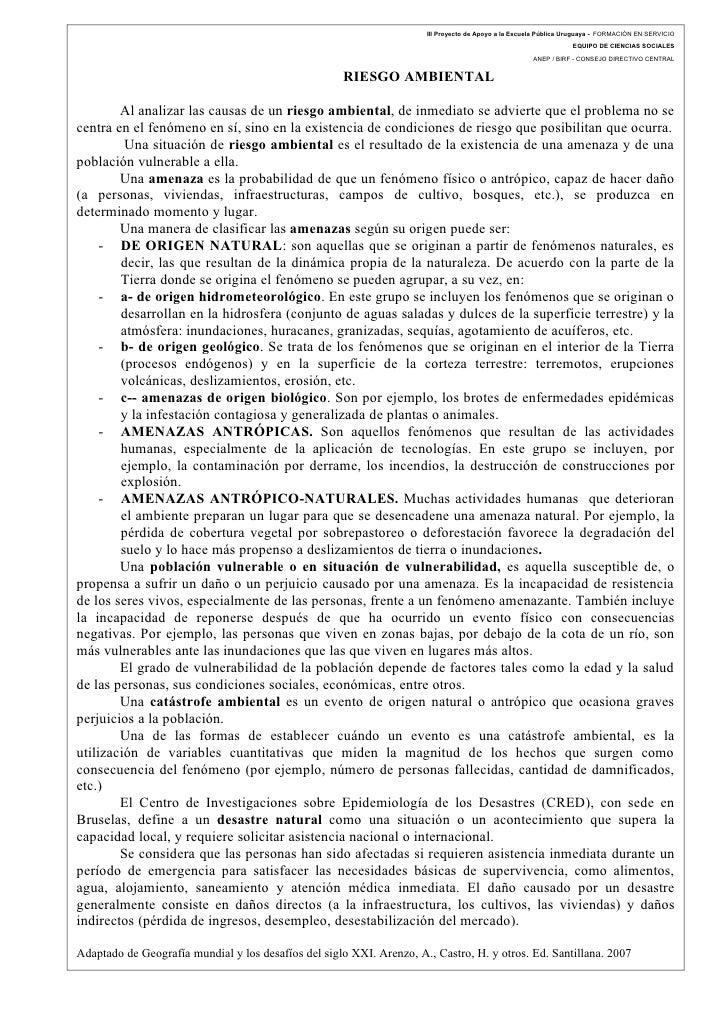 III Proyecto de Apoyo a la Escuela Pública Uruguaya - FORMACIÓN EN SERVICIO                                               ...