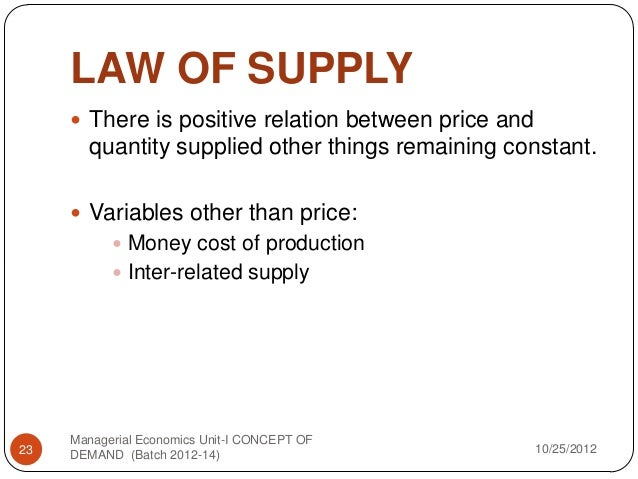 concepts of supply and demand explained 12 importance of price elasticity of a joint supply product is fixed high if its demand is inelastic and low of price elasticity of demand – explained.
