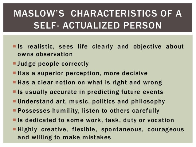 Who are some self-actualized people?