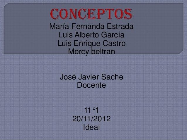 María Fernanda Estrada  Luis Alberto García Luis Enrique Castro     Mercy beltran  José Javier Sache      Docente        1...
