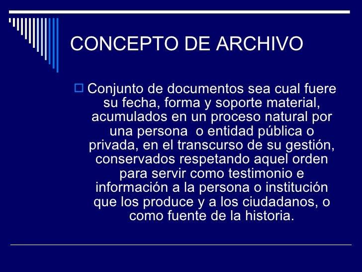 Conceptos Archivisticos