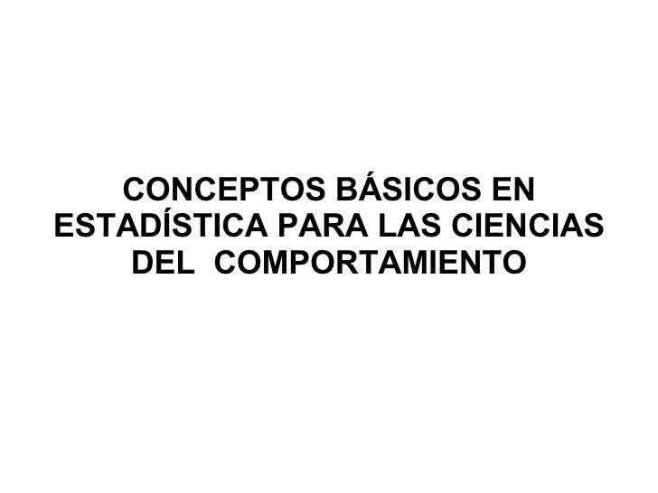 Conceptos Basicos Estadistica Psicologia