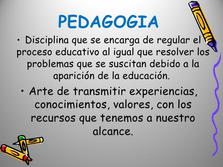 conceptos pedagogia infantil