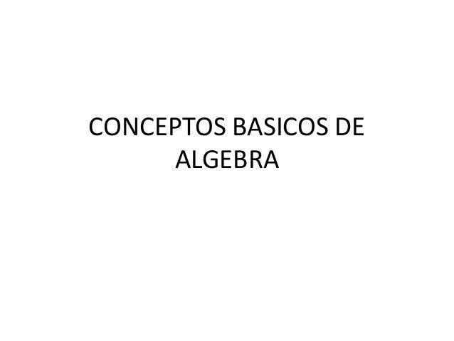 Conceptos basicos de algebra