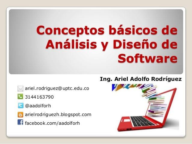 Conceptos basicos de analisis y diseño