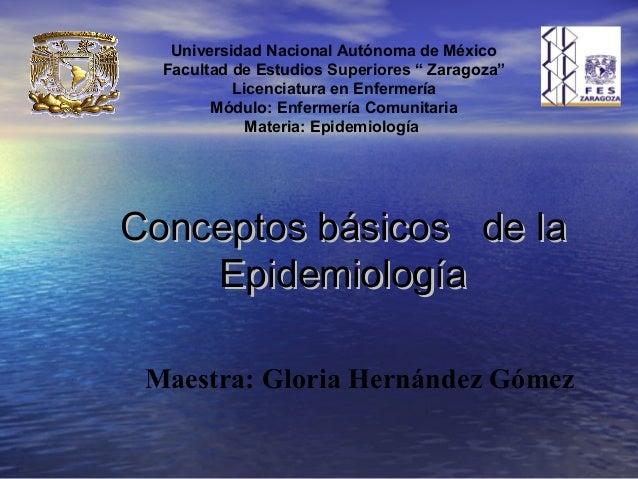 Conceptos basicos de epidemiología