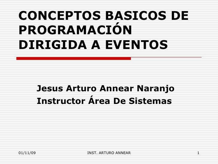 Conceptos Basicos De ProgramacióN Dirigida A Eventos