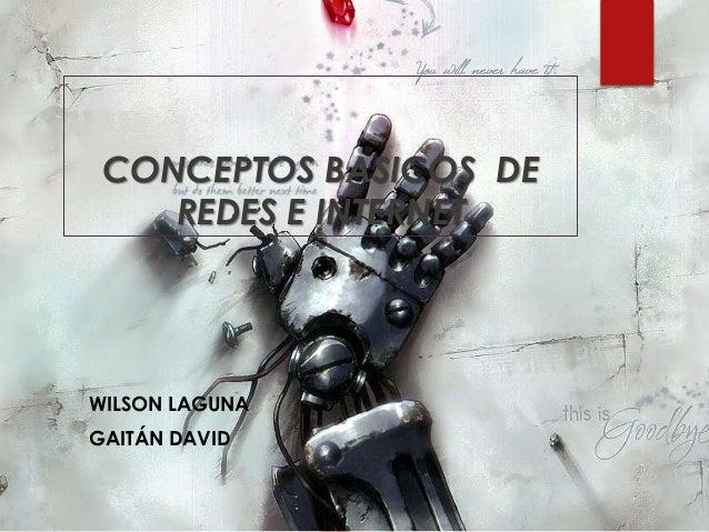 CONCEPTOS BASICOS DE REDES E INTERNET WILSON LAGUNA GAITÁN DAVID
