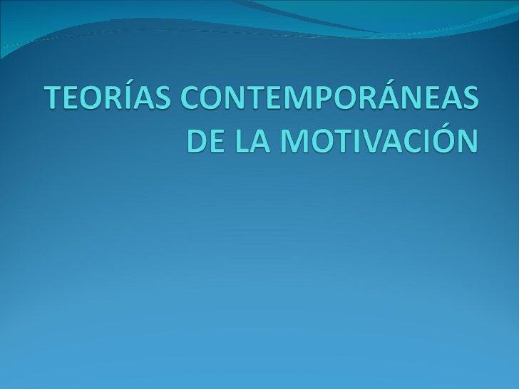 Conceptos básicos de motivación