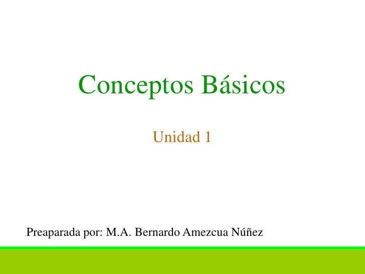 Conceptos básicos s1