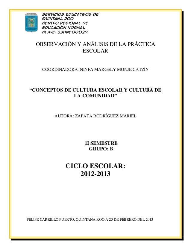 Servicios Educativos de       Quintana Roo       Centro Regional de       Educación Normal       Clave: 23DNE0002D       L...