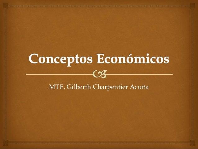 Conceptos económicos para bachillerato