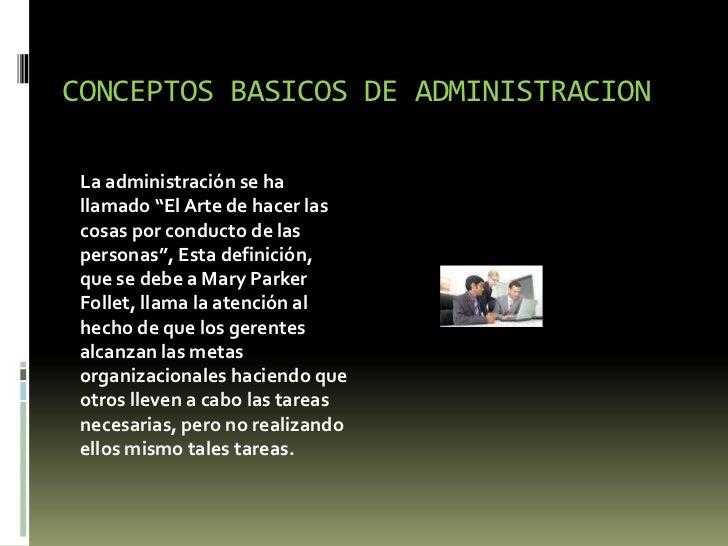 Conceptos generales de la administracion for Nociones basicas de oficina concepto