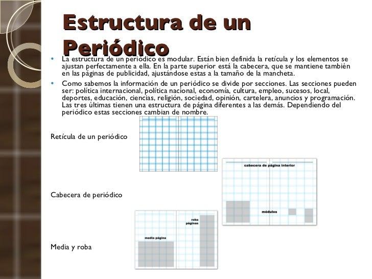 Conceptos editorial for Estructura del periodico mural wikipedia
