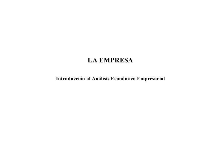 Conceptos y elementos de la empresa