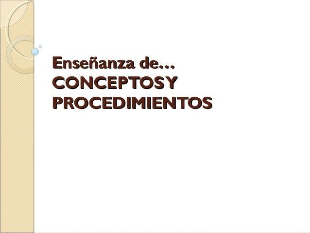 Conceptos y procedimientos x disciplina 1
