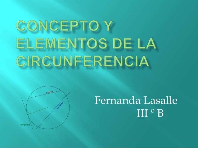 Concepto y elementos de la circunferencia